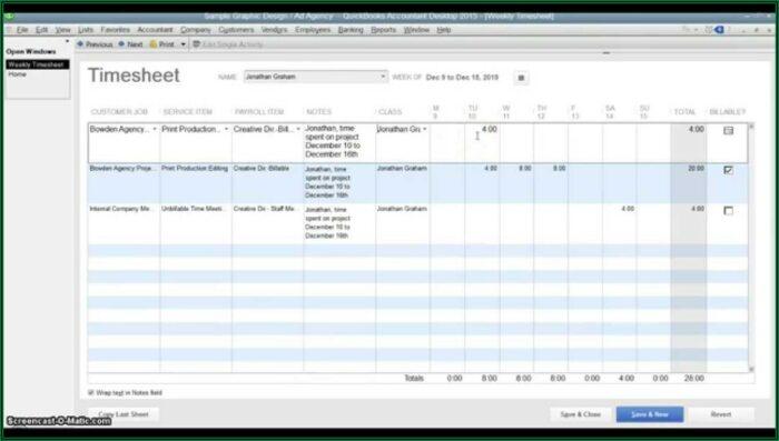 Quickbooks Create Invoice From Timesheet
