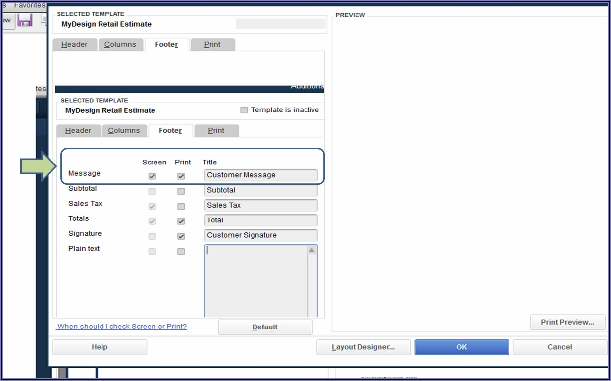 Quickbooks Desktop Customer Message On Invoice