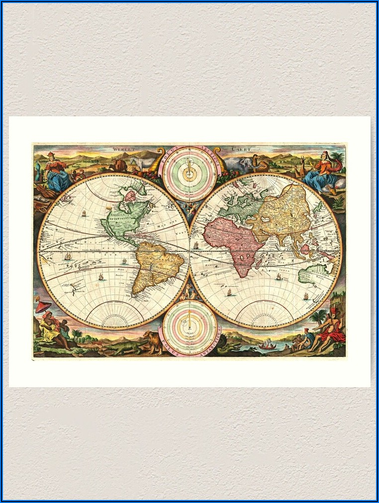 Reproduction Antique World Maps