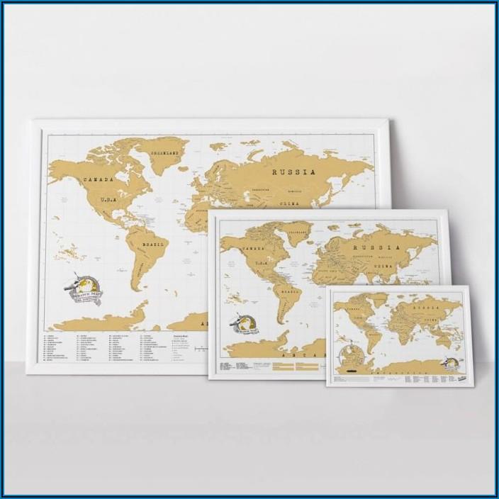 Rose Gold Scratch Map Australia