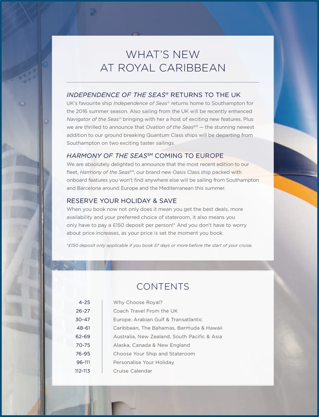 Royal Caribbean Shore Excursions Brochure South Pacific