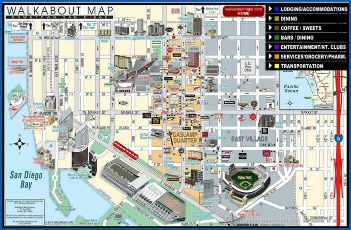 San Diego Hotels Gaslamp District Map