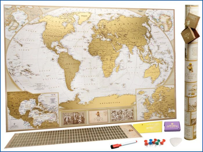 Scratch Away Map Of The World
