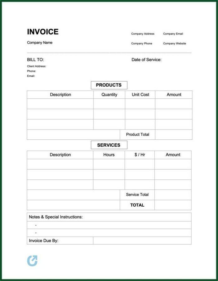 Simple Proforma Invoice Sample