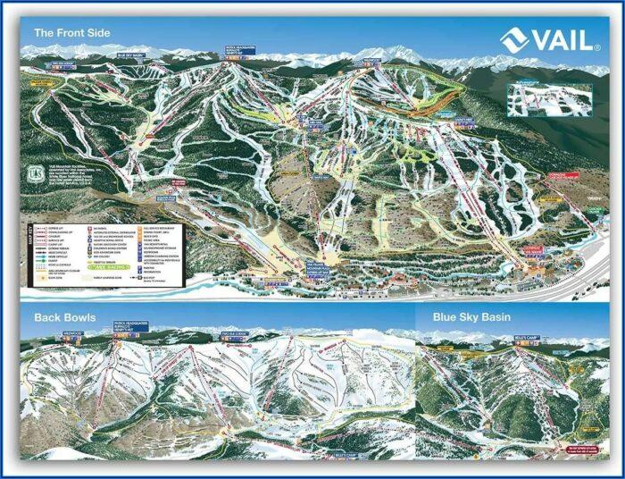 Ski Trail Map Posters