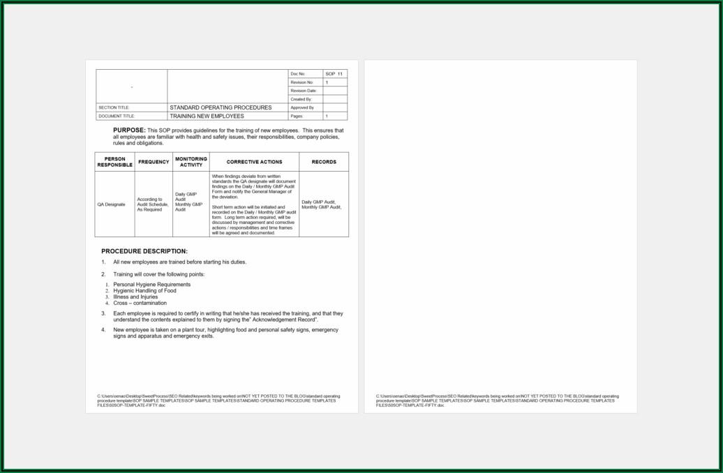 Sop Format For Billing Process