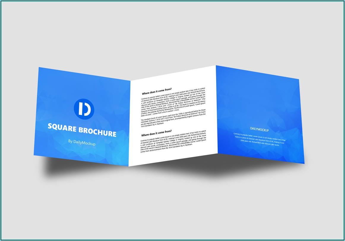 Square Brochure Mockup Free