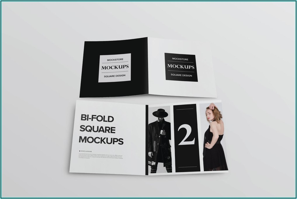 Square Brochure Mockup Psd Free Download