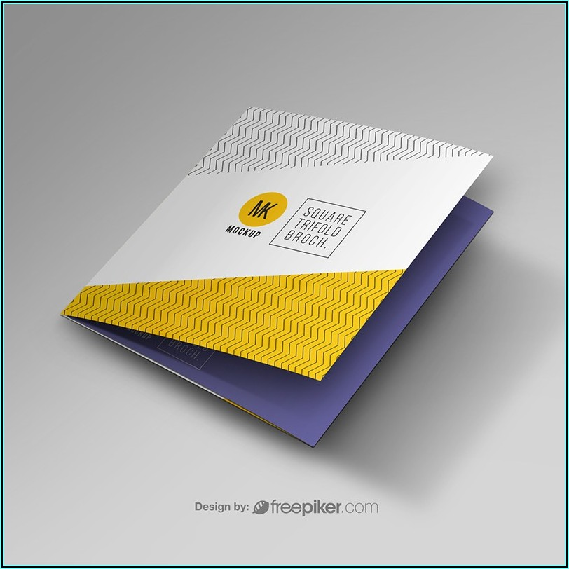 Square Trifold Brochure Mockup Free Download
