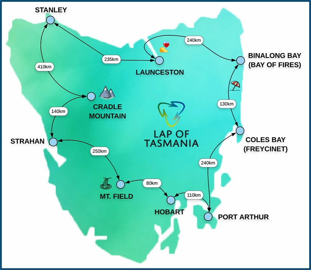 Tasmania Road Touring Map