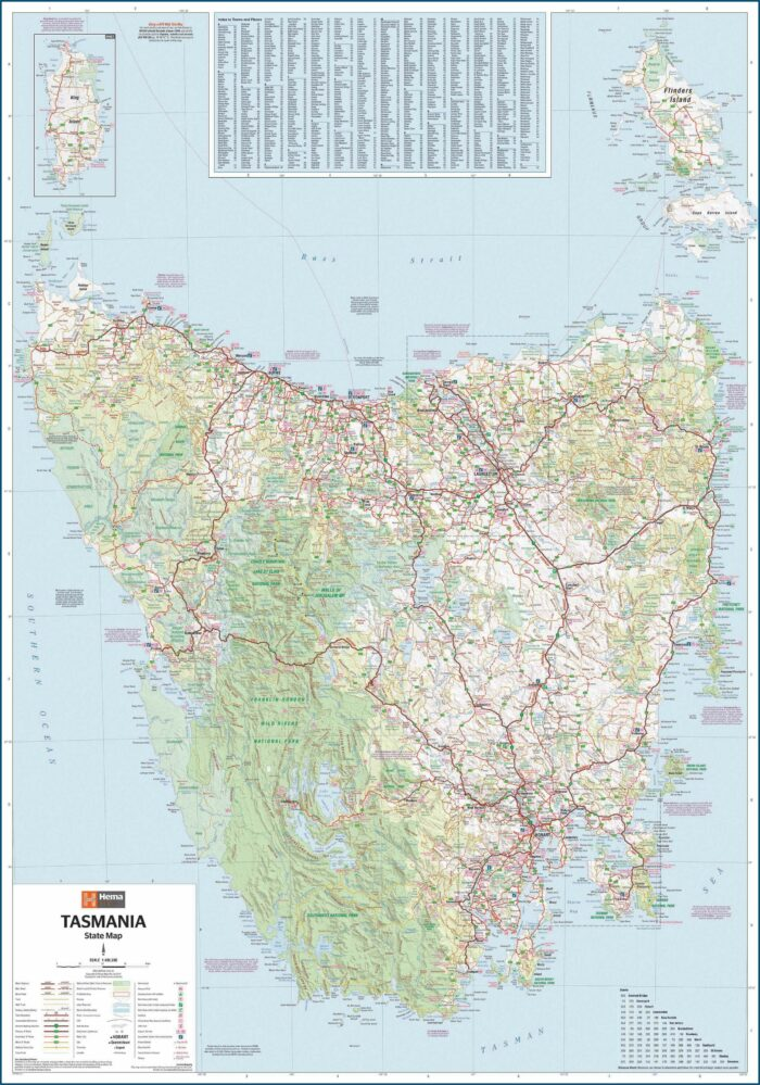 Tasmania Travel Map Pdf