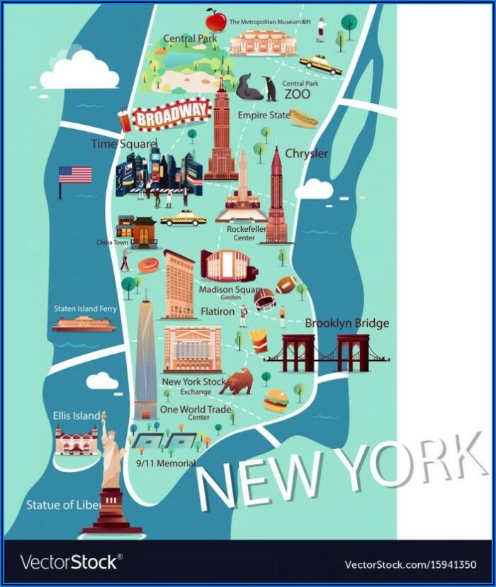 Tourist Map Of Nyc With Attractions Printable