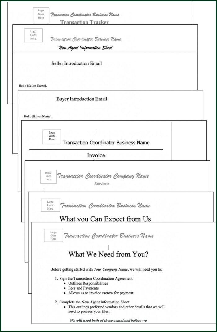 Transaction Coordinator Invoice Template