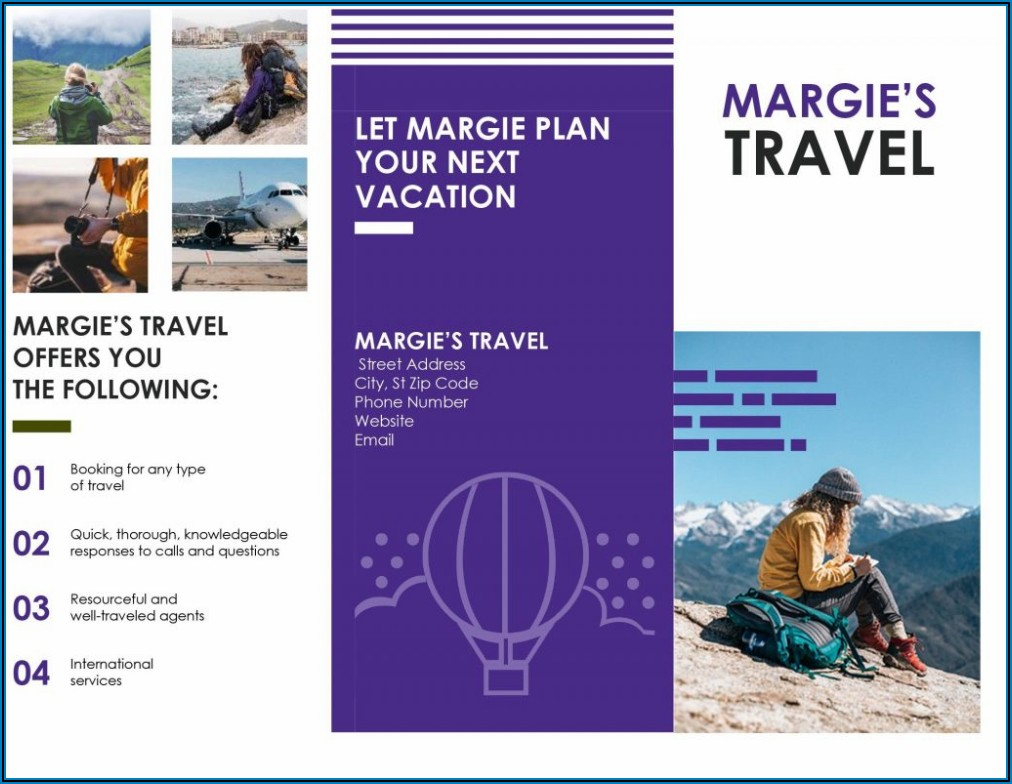 Travel Brochure Template For Students