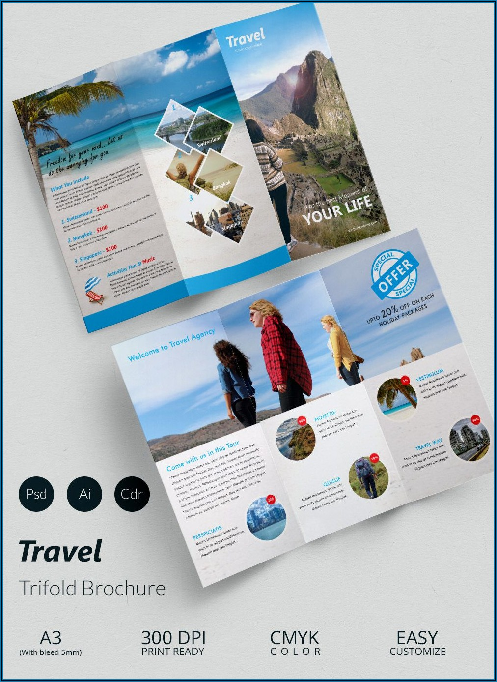 Travel Brochure Template Word Free