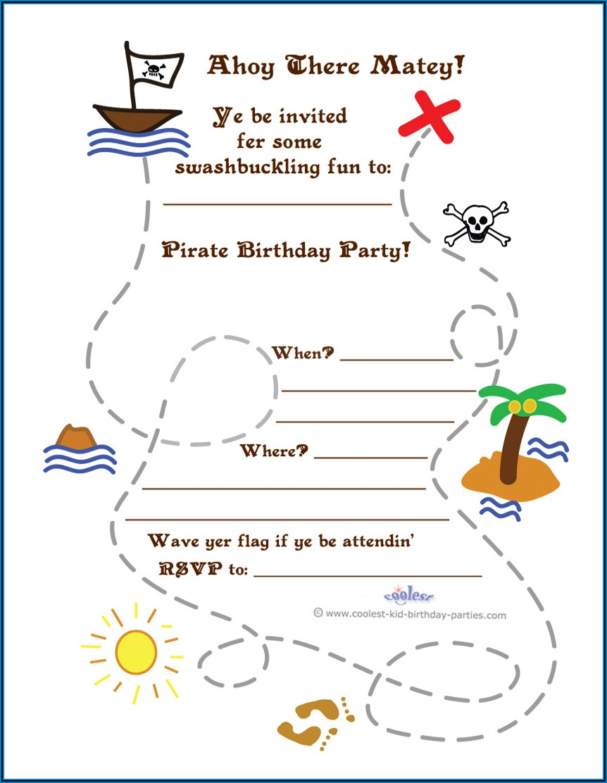 Treasure Map Invitation Template Free