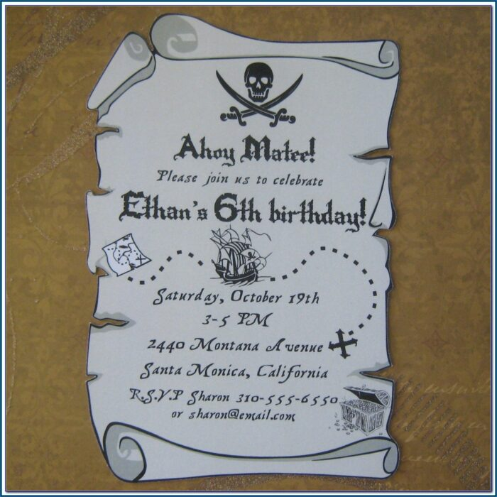 Treasure Map Invitations Printable
