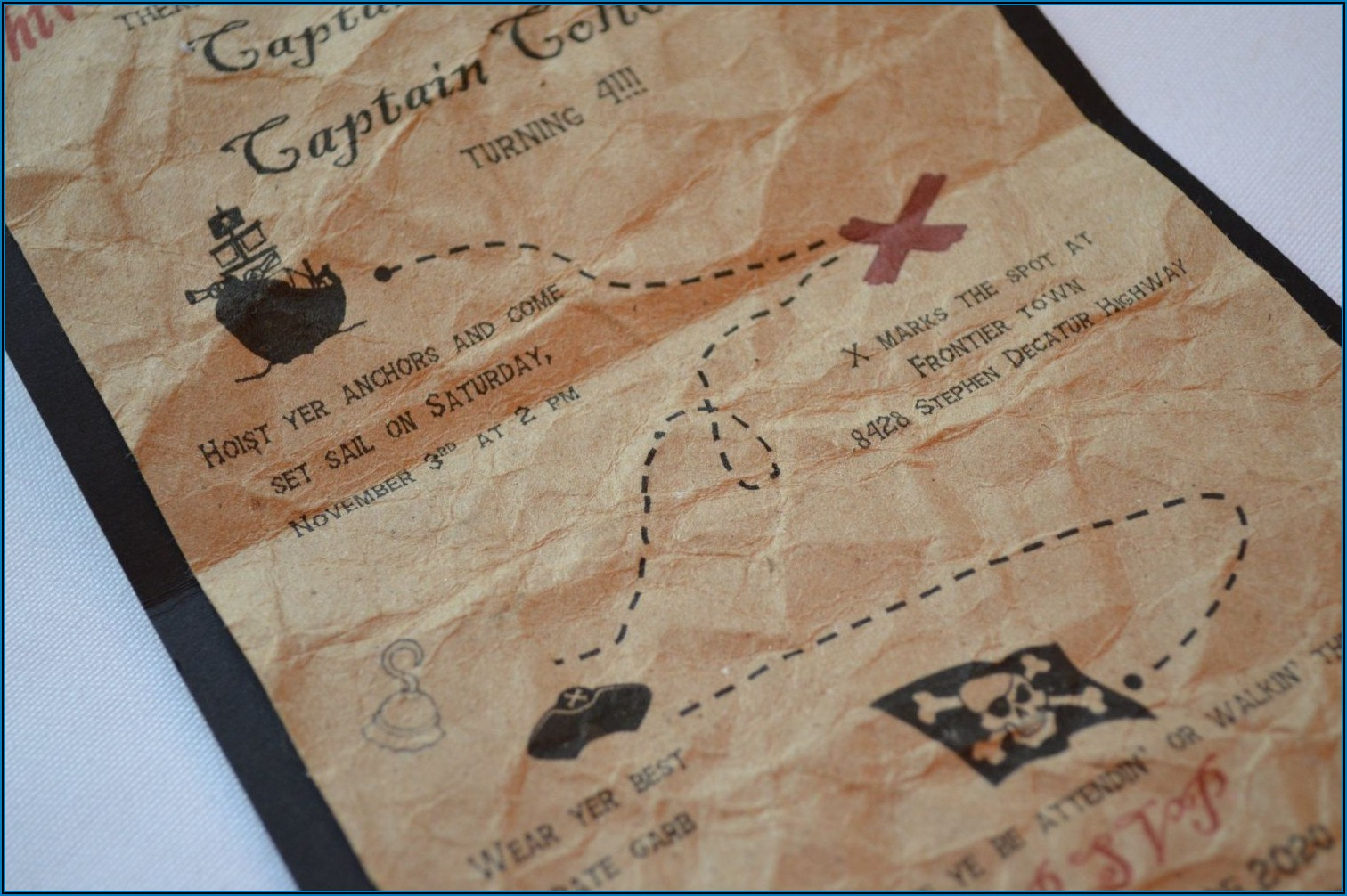 Treasure Map Party Invitations