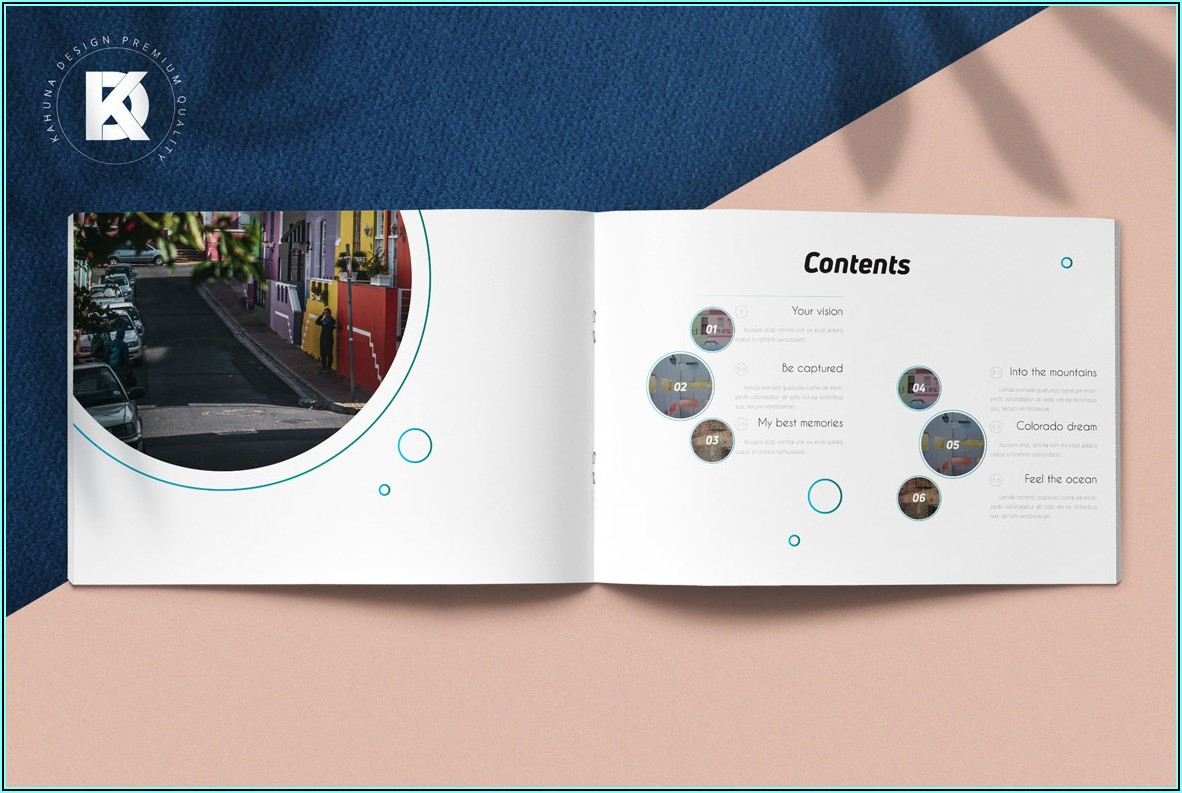 Tri Fold A5 Brochure Mockup