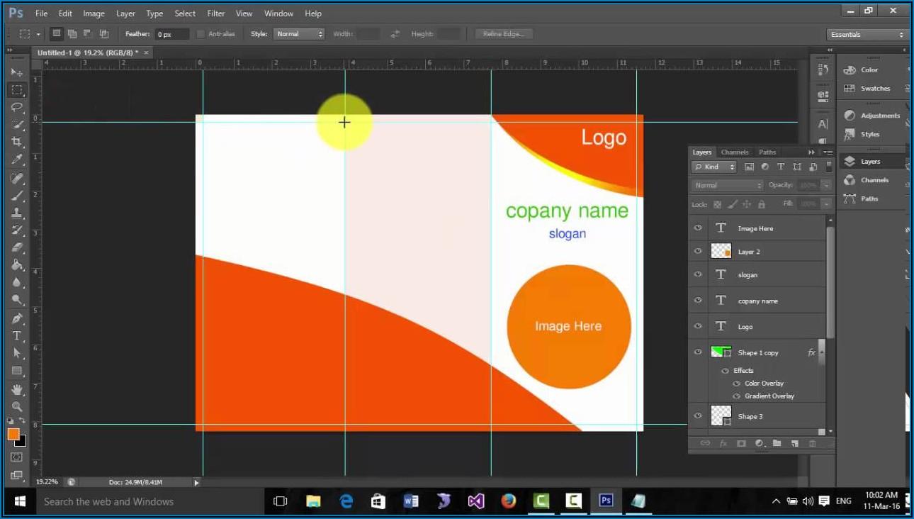 Tri Fold Brochure Dimensions Photoshop