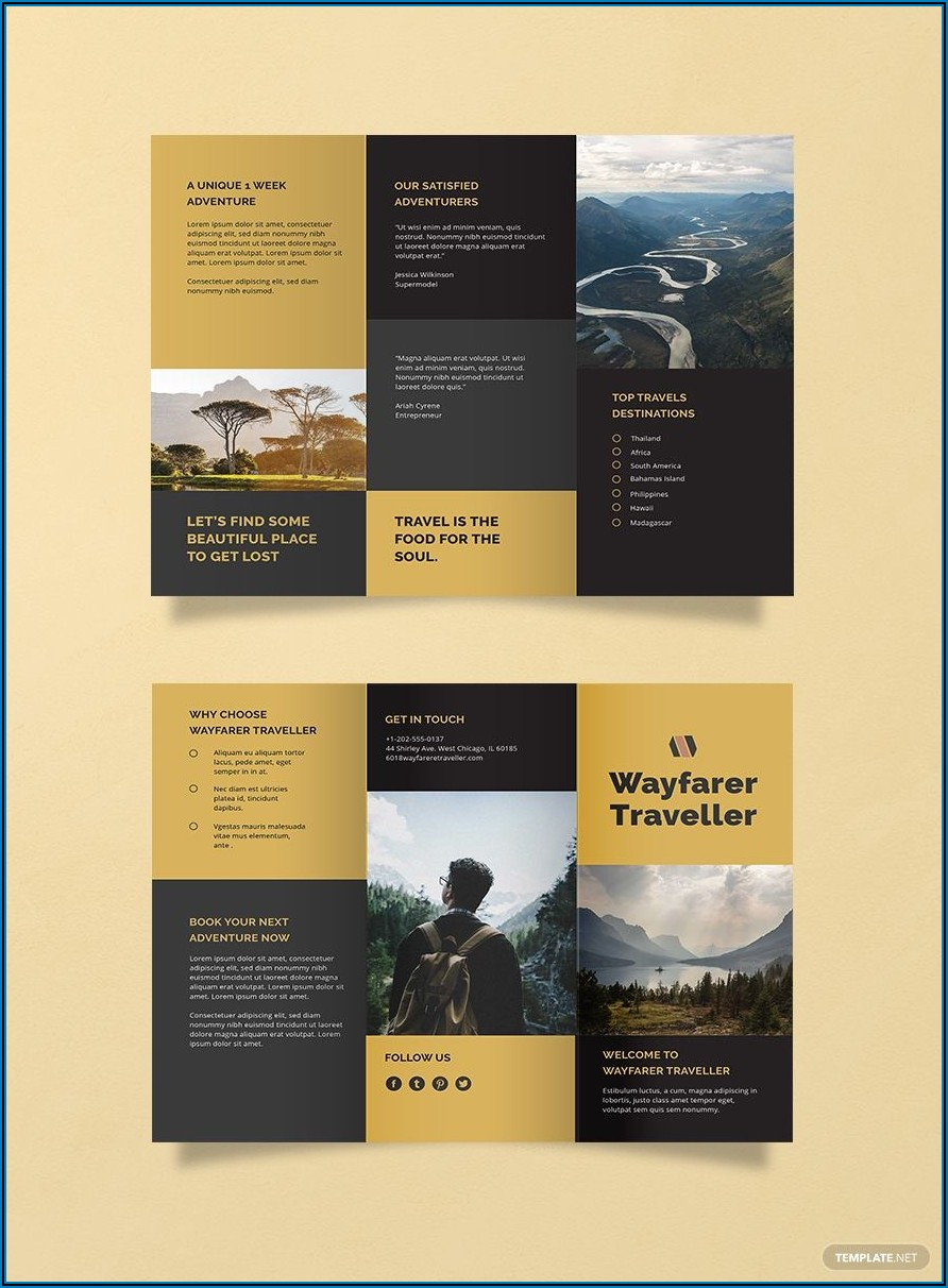 Tri Fold Brochure Indesign Template Download Free