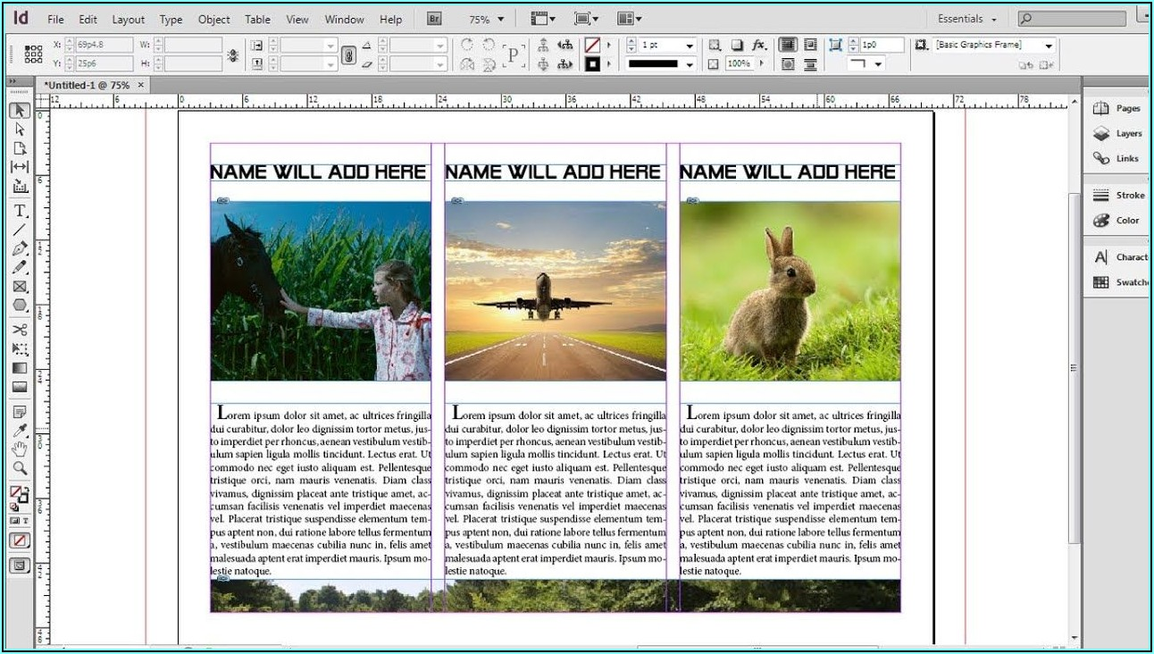 Tri Fold Brochure Indesign Tutorial