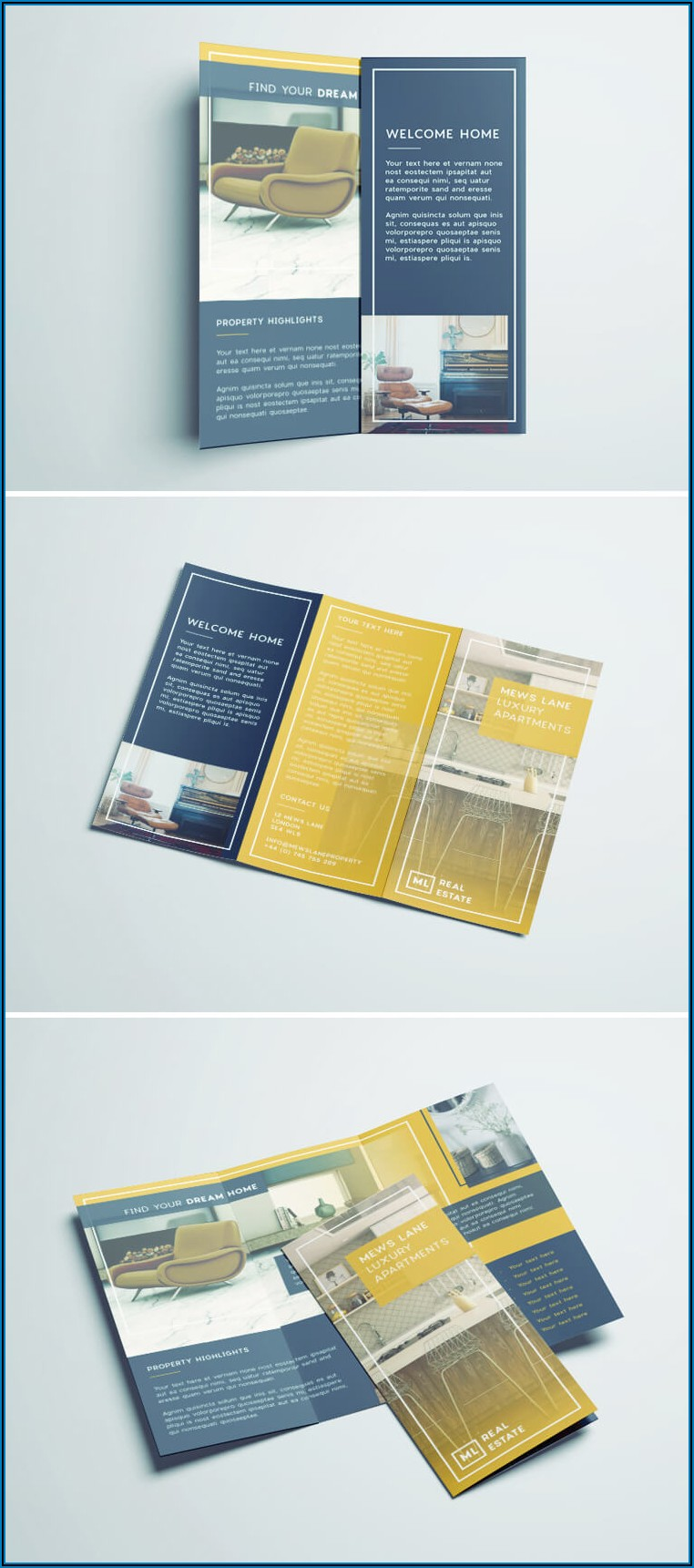 Tri Fold Brochure Layout Indesign
