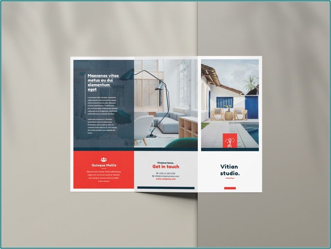 Tri Fold Brochure Mockup Download