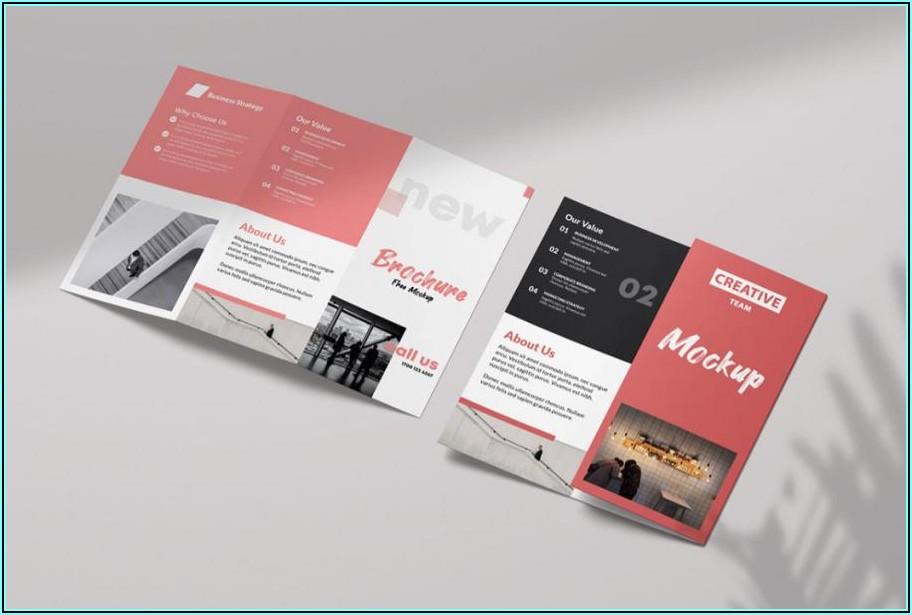 Tri Fold Brochure Mockup Free Psd
