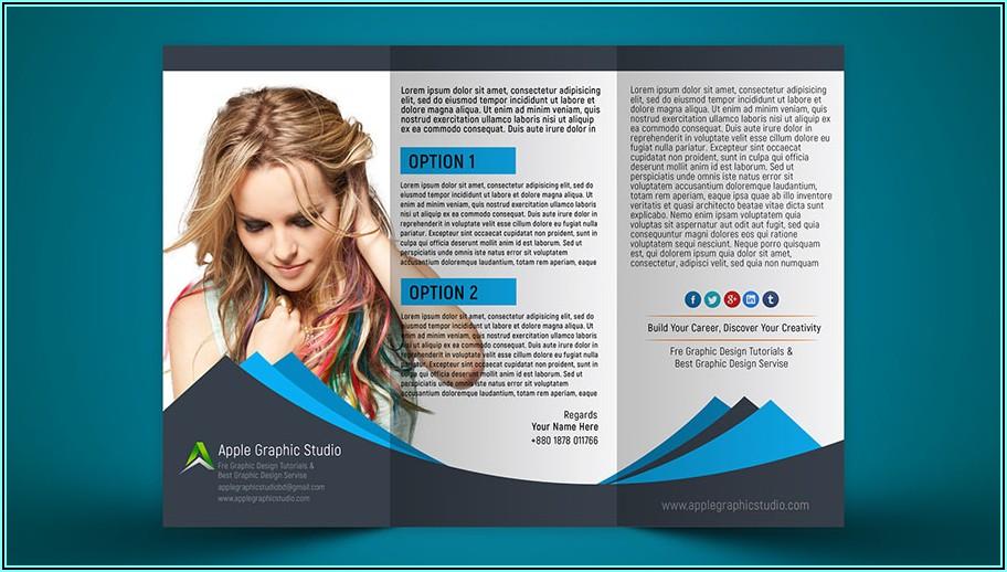 Tri Fold Brochure Mockup Photoshop