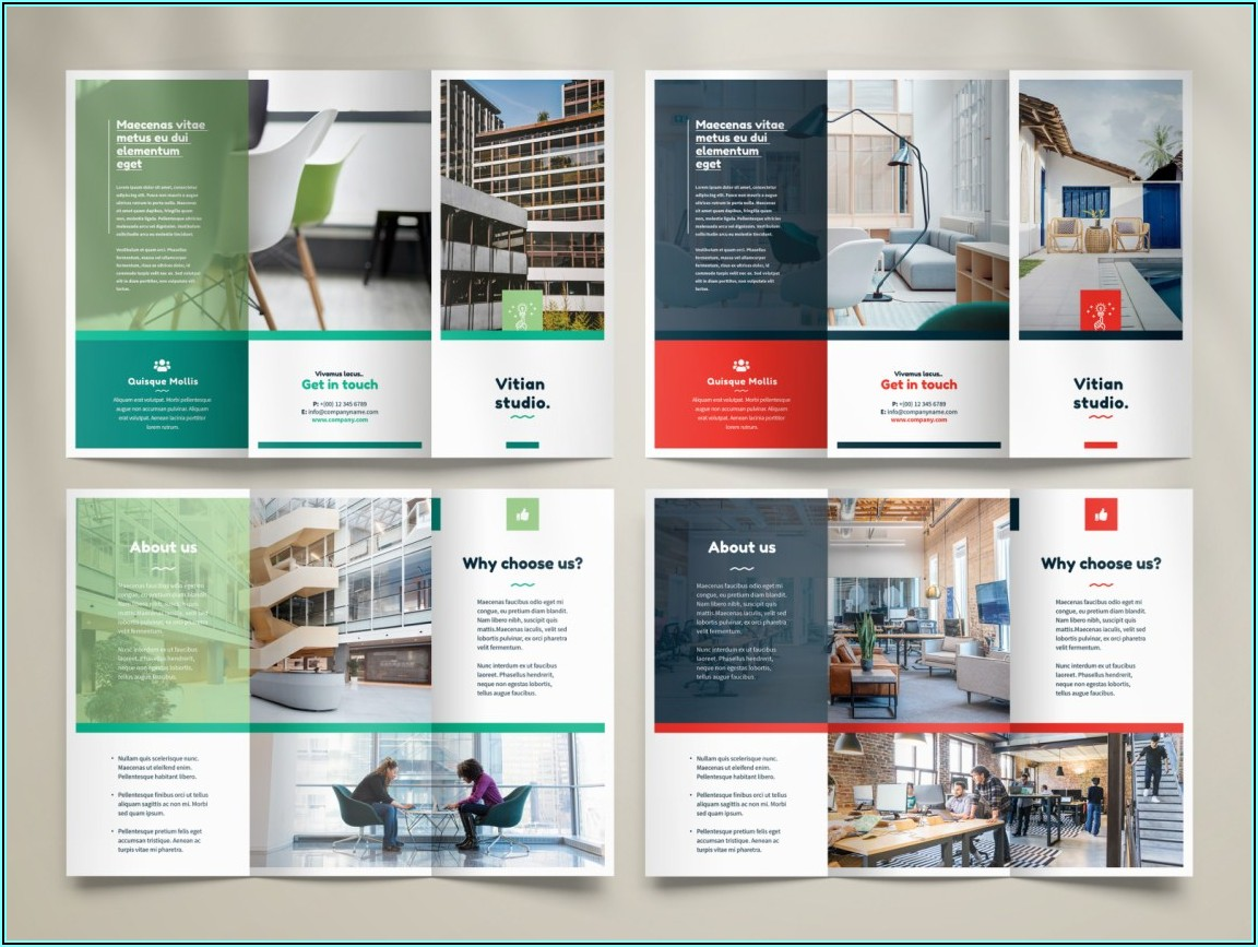 Tri Fold Brochure Mockup Psd Free Download