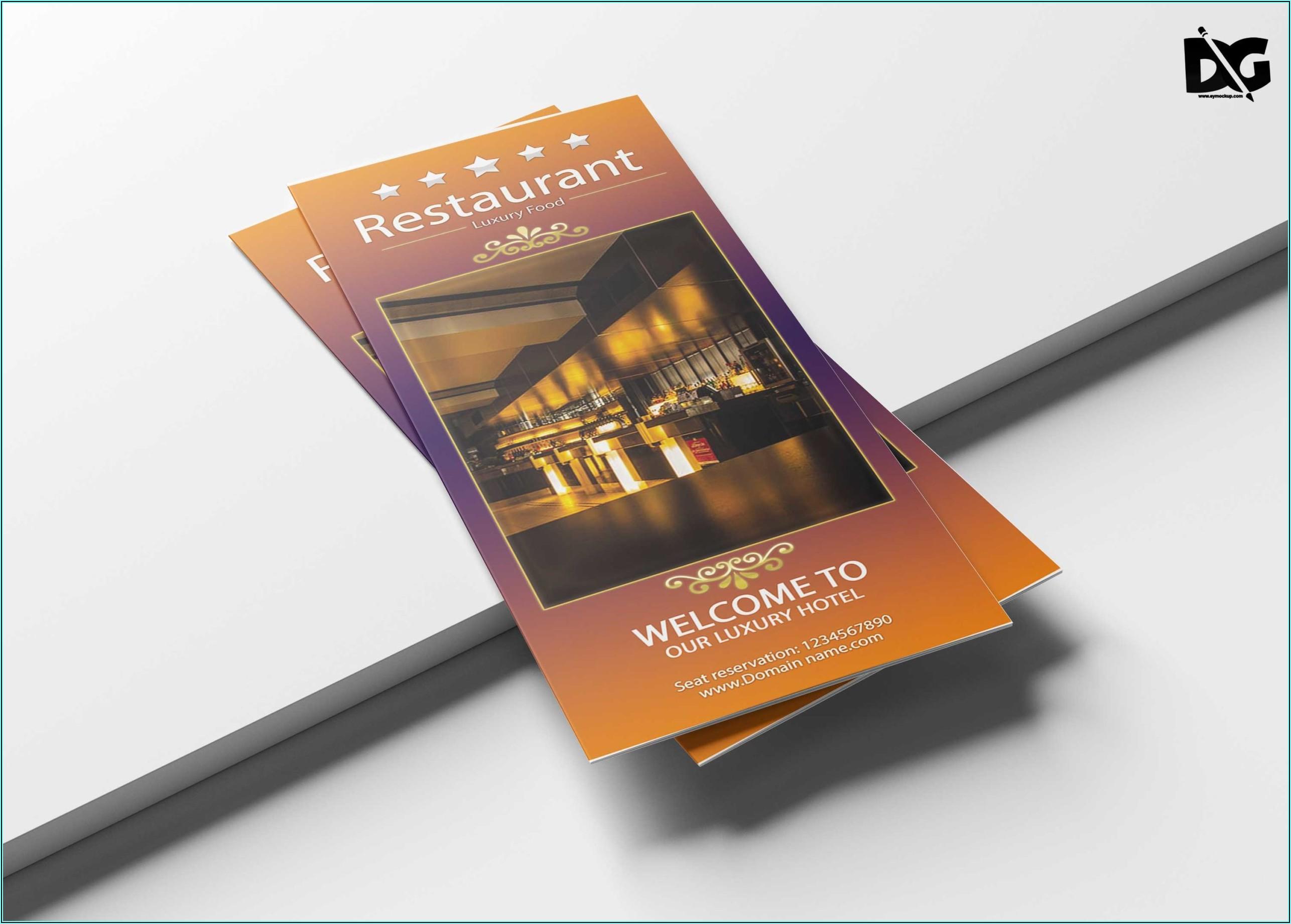 Tri Fold Brochure Mockup Template Free