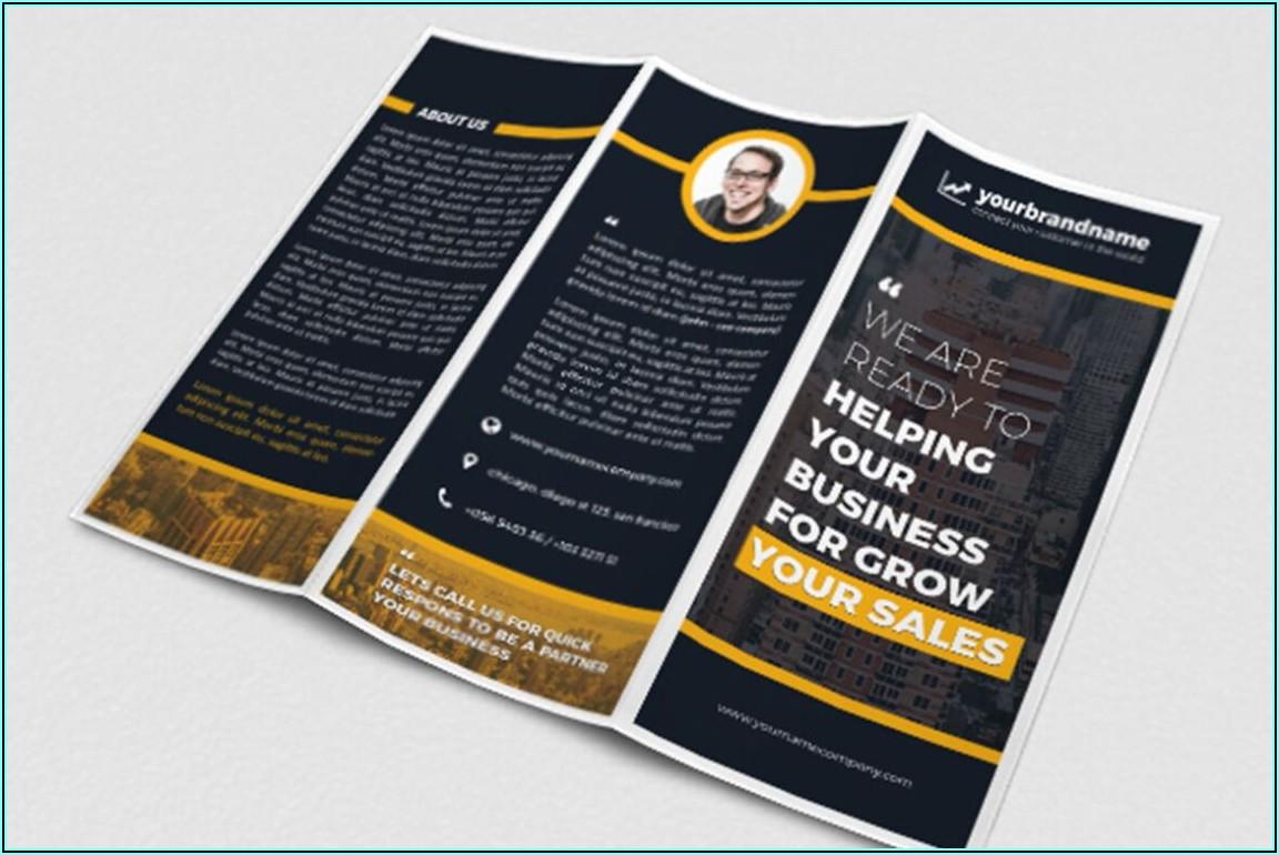 Tri Fold Brochure Mockup Template Psd