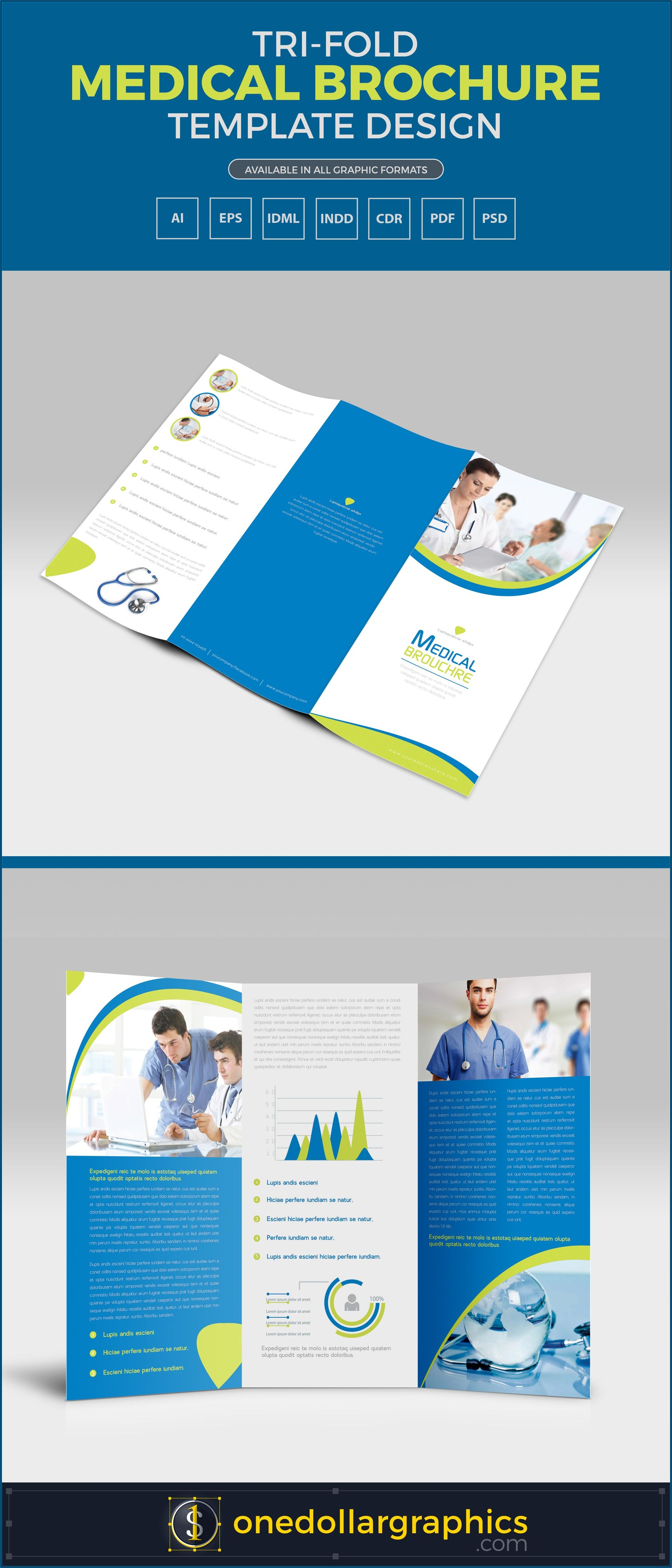 Tri Fold Brochure Template Design Ai