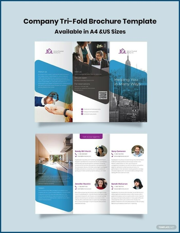 Tri Fold Brochure Template Illustrator