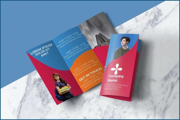 Tri Fold Brochure Template Illustrator Free