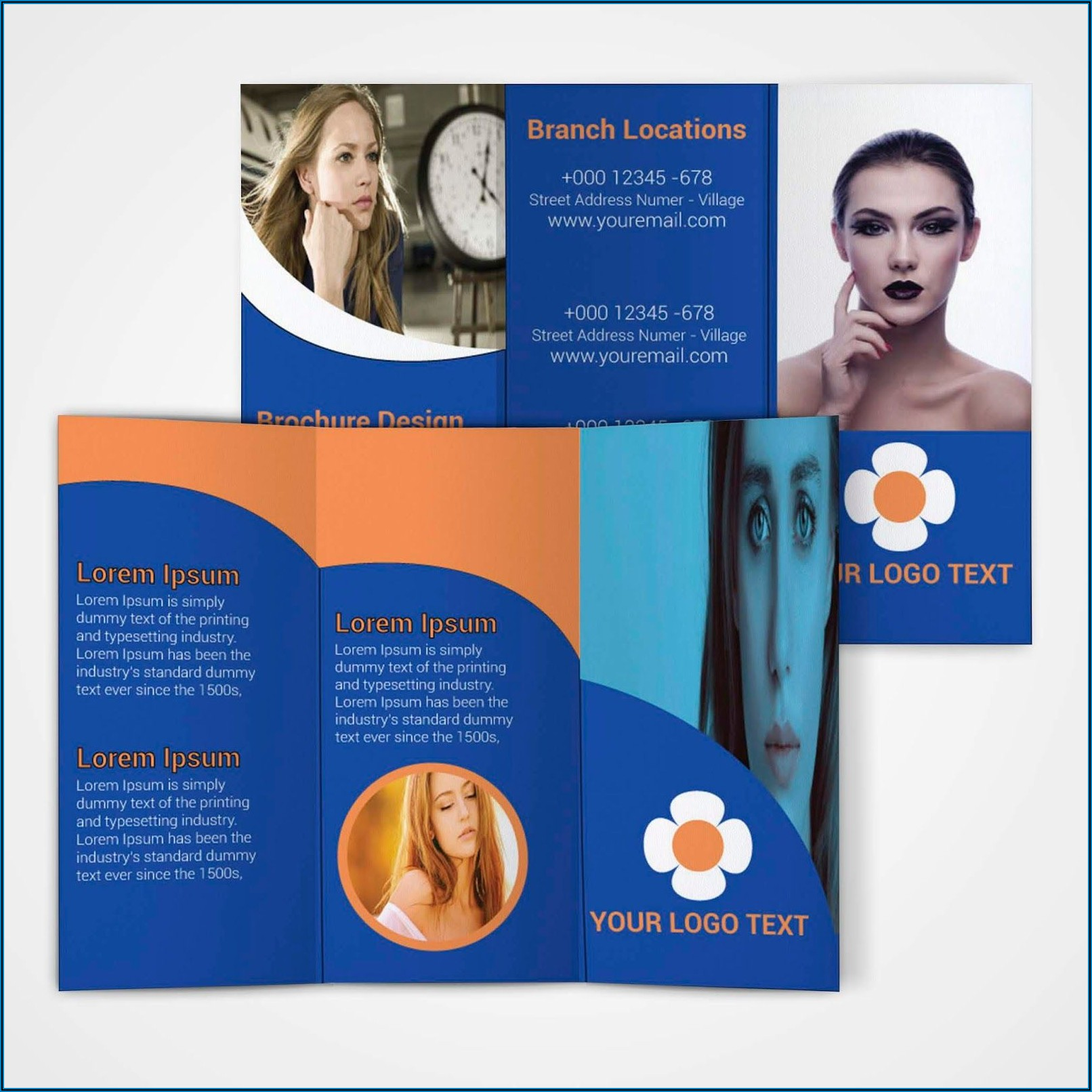 Tri Fold Brochure Template Illustrator Free Download