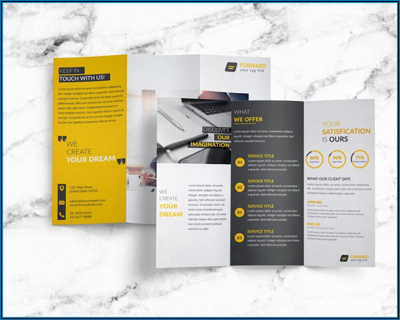 Tri Fold Indesign Brochure Templates Free