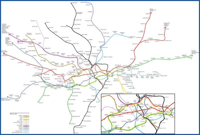 Tube Maps Of London
