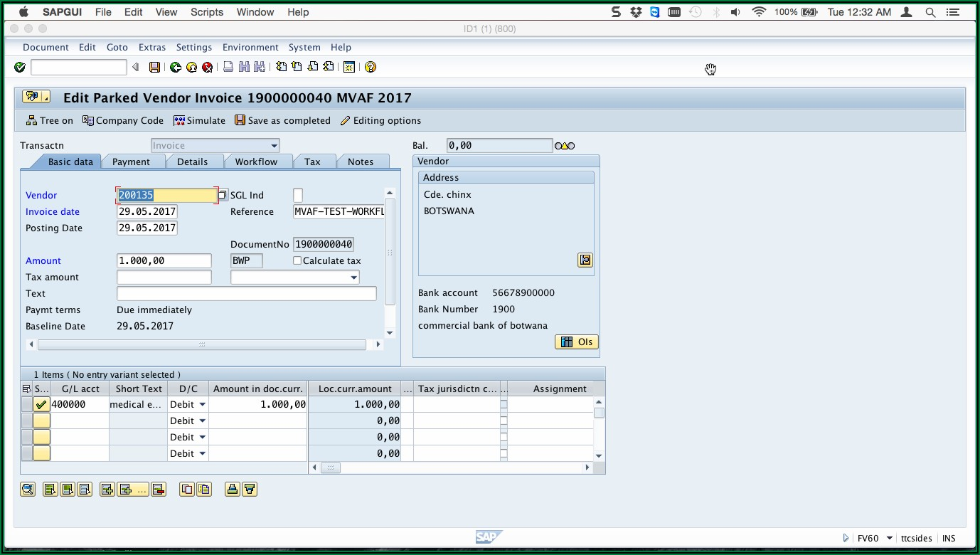 Vendor Invoice Workflow In Sap