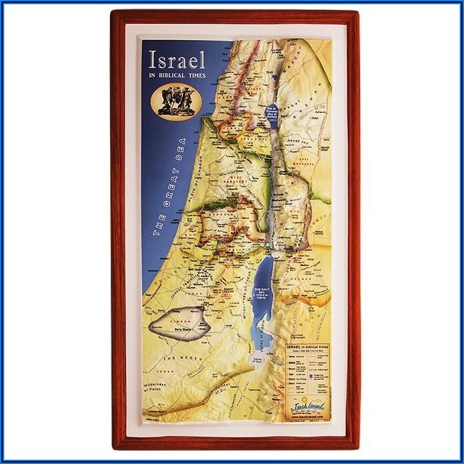 Wall Map Of Biblical Israel
