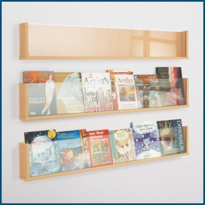 Wall Mounted Wooden Brochure Holders