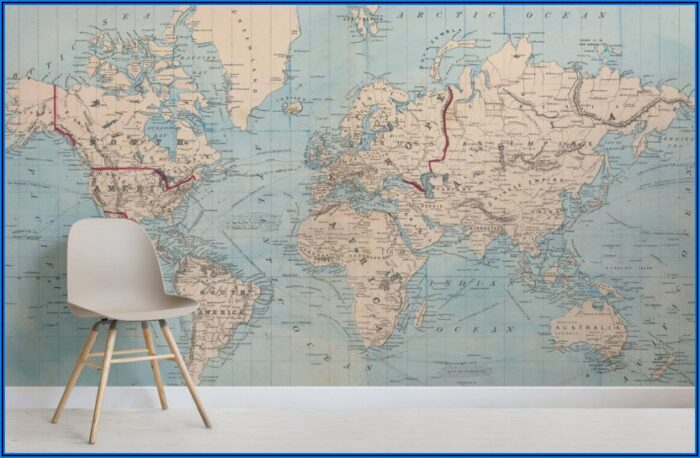 Wall Murals Map Of The World