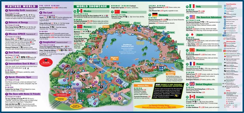 Walt Disney World Printable Brochure
