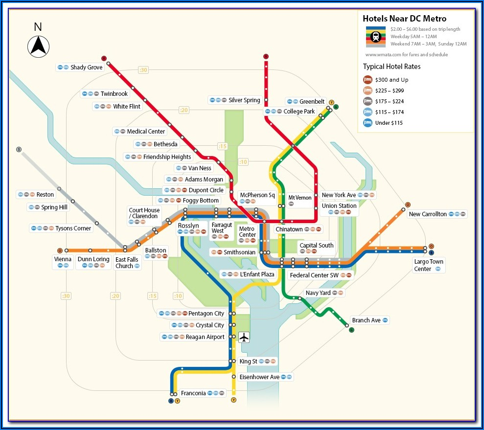Washington Dc Metro Map And Fares