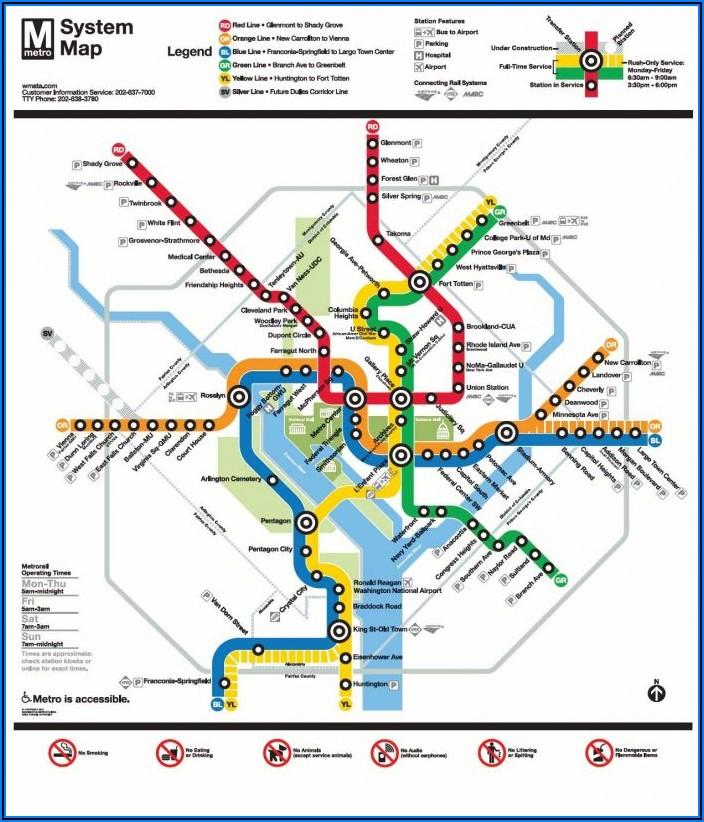 Washington Dc Metro Map Pdf