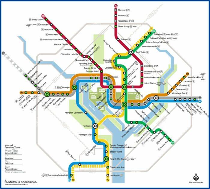 Washington Dc Metro Map With Hotels