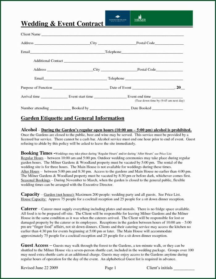 Wedding Planner Invoice Sample