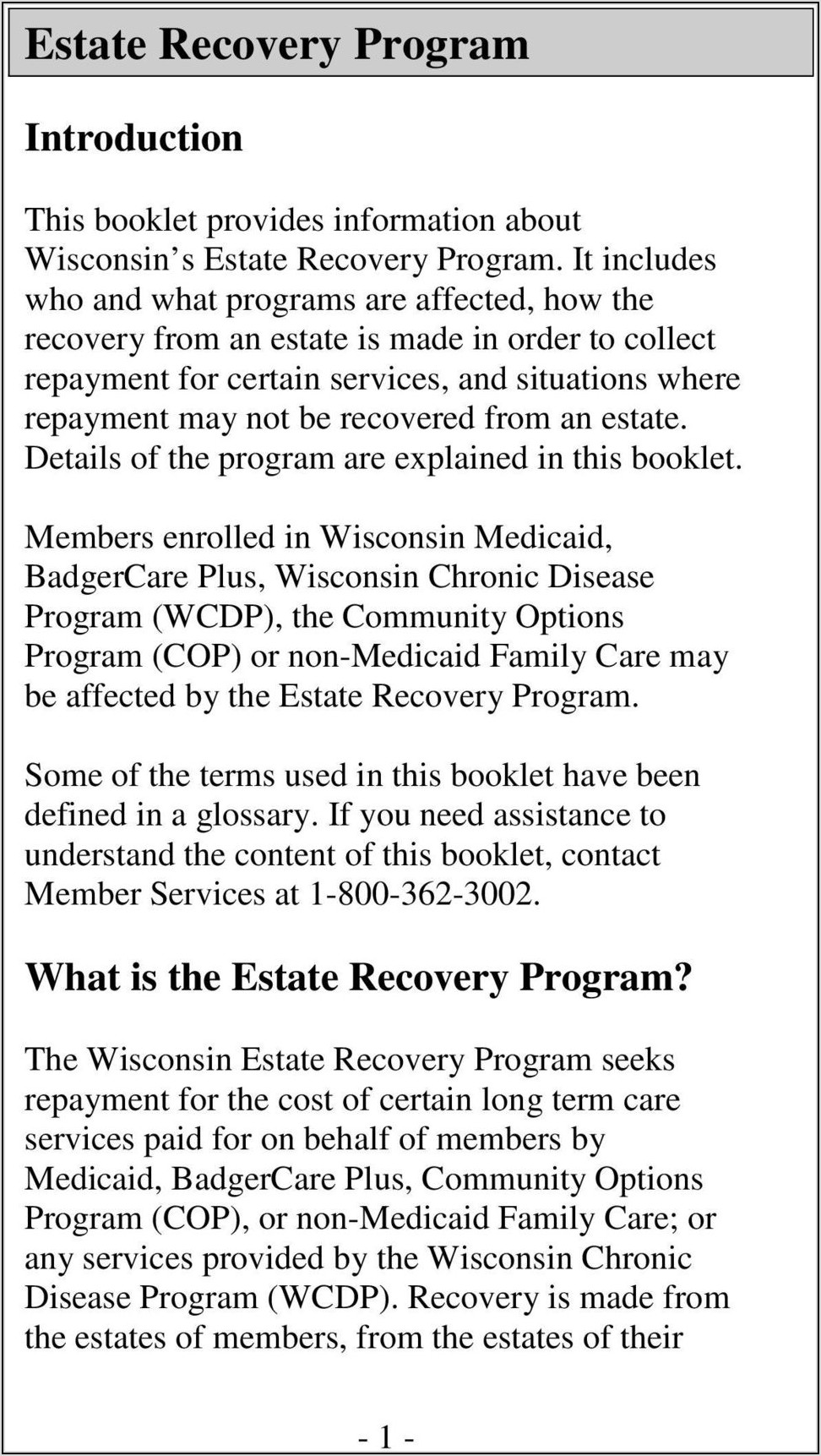 Wisconsin Transfer By Affidavit Brochure