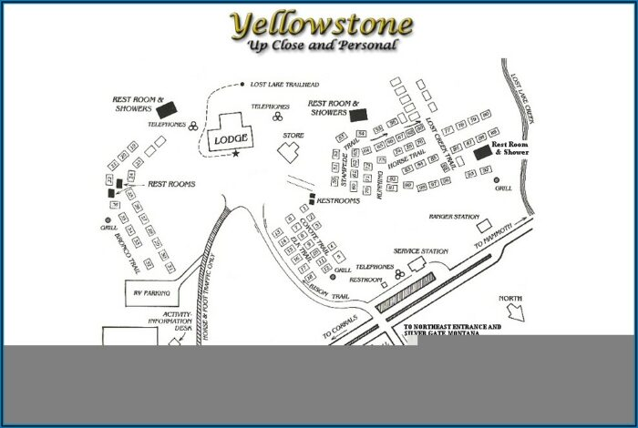 Yellowstone Cabin Map